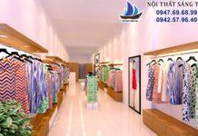 Thiết kế cửa hàng quần áo thời trang Evy