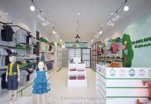 Thiết kế shop mẹ và bé 35m2