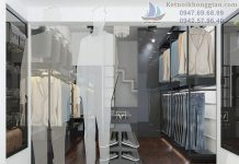 thiết kế shop thời trang công sở nam