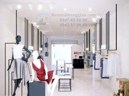 Thiết kế shop quần áo thời trang công sở