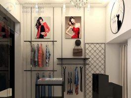 Thiết kế shop thời trang nữ nhỏ