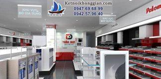Thiết kế cửa hàng thiết bị nhà bếp