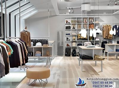 thiết kế cửa hàng thời trang nam