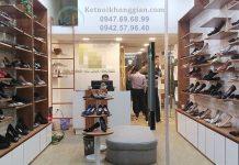 Thi công shop giày dép nữ