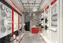 Thiết kế cửa hàng đèn điện