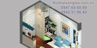 Thiết kế phòng ngủ nhỏ 12m2