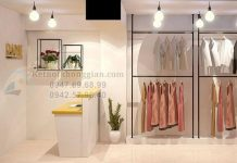 Thiết kế shop thời trang 25m2