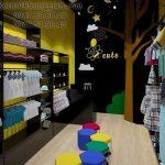 Thiết kế shop thời trang trẻ em 15m2