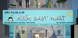 Thiết kế siêu thị mẹ và bé